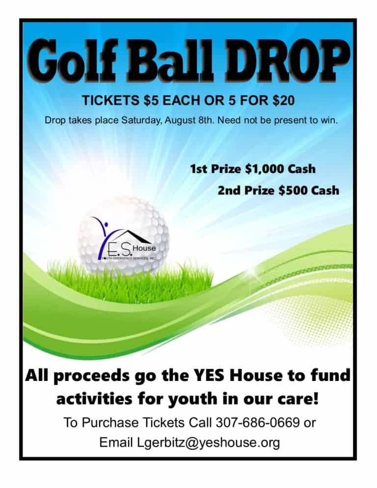 golf ball drop flyer